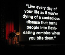 life, quotes, zombies.