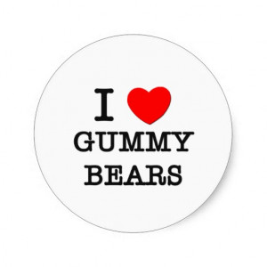 Love Gummy Bears Stickers
