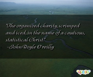 The organized charity, scrimped and iced, in