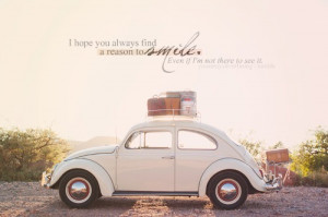 art, car, love, photo, quote, smile, sun, text, vintage