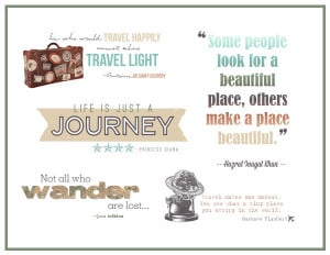FREE Word Art for Scrapbooking Travel by Amy Kingsford | Get It ...