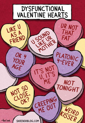 Valentine Hearts for Dysfunctional Couples
