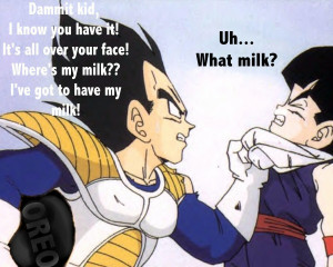 Dragon Ball Z milk