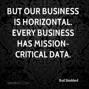 ... our business is horizontal. Every business has mission-critical data