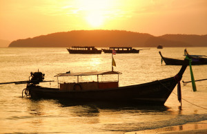 Aonang Krabi, Thailand Sunset Scene