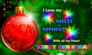 Funny Quotes About Nieces And Nephews Merry christmas nieces and