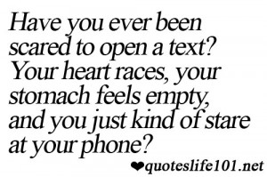 Have You Ever Been Scared to Open a Text! Your Heart Races, Your ...
