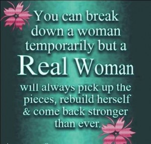 you can break down a woman temporary