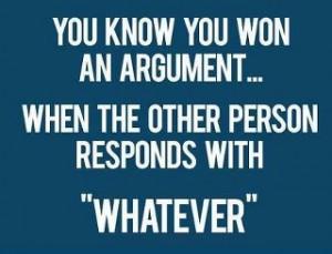 won argument
