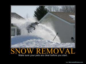 Plow Snow Removal