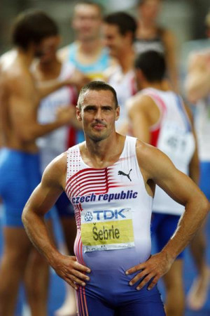 Roman Sebrle at the end of the Decathlon at the 2009 World