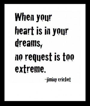 jiminy cricket. Disney's best conscience.