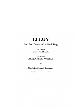 Elegy on the Death of a Mad Dog (Russell, Alexander)