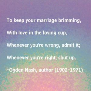 Marriage advice - magnet magnet
