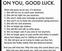 Good Girl Bad Boy Quotes Quotes / when a girl gives up
