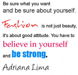 Quotes And Sayings On Fashion By Adriana Lima
