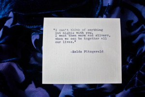 Zelda Fitzgerald quote typed on a vintage typewriter on Etsy, $9.00