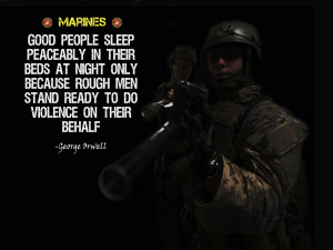 """Marines Poster """"Rough Men Stand Ready"""""""