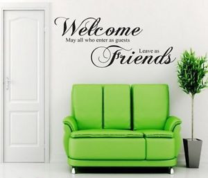 ... -Office-Welcome-Guest-Friend-Home-Decor-Room-Decoration-Modern-Quote