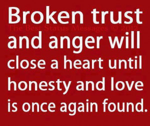 Broken Trust And Anger Will Close A Heart Until Honesty And Love Is ...
