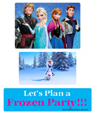39+ Party Ideas for Disney's Frozen ( Movie ) Food, Treats, Drinks and ...