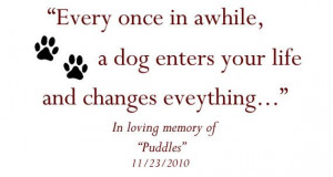 Personalized Dog Memorial and Quote Wall Decor/Sticker VI00054