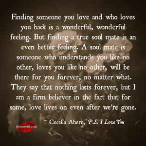 Finding someone you love and who loves you back is a wonderful ...