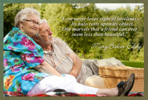 Love never loses sight of loveliness. Its halo rests upon its object ...