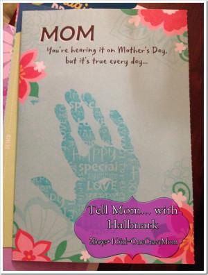Hallmark Mother Day Cards Handprint