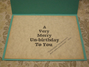 ... Wonderland A2 Card - Mad Hatter Tea Party - quote, funny, anytime card