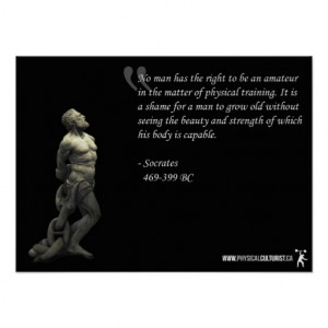 Socrates Gym Poster - Physical Training