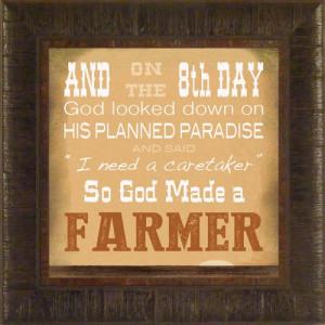 ... John Deere IH Farmall Verse Framed Art Print Wall Décor Picture