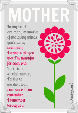 Cute Mother Day Poems for Moms