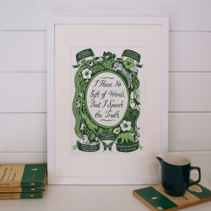 homepage > LUCY LOVES THIS > JUNGLE BOOK, FAMOUS QUOTES PRINT