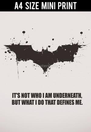 Batman Begins Quotes What Defines You Batman Begins Quotes What