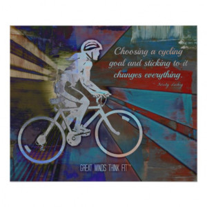 Motivational Cycling Poster for Girls