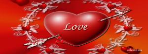 Bleeding Love Arrow Facebook Cover