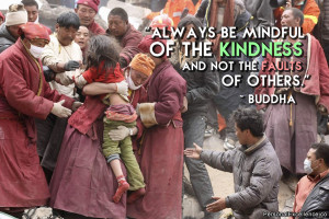"""Inspirational Quote: """"Always be mindful of the kindness and not the ..."""