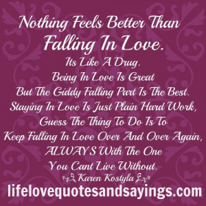 Nothing Feel Better than Falling In Love ~ Being In Love Quote