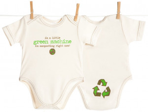 100% Certified Organic baby onesies printed with our baby's funny ...
