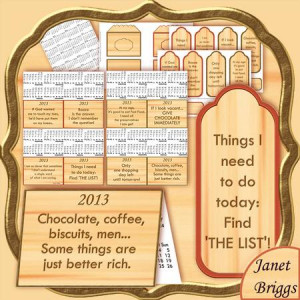 FUNNY SAYINGS 2013 Purse Calendar Kit by Janet Briggs