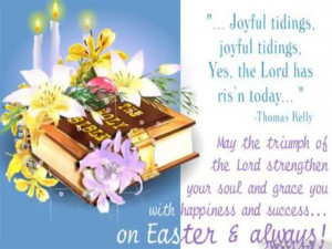 Joyful Tidings, Joyful Tidings, Yes, The Lord Has Ris'n Today. May ...