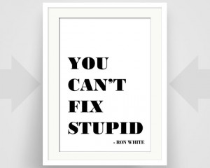 You Can't Fix Stupid, Ron White Quote, Humor, Funny, Writer Gift, Art ...