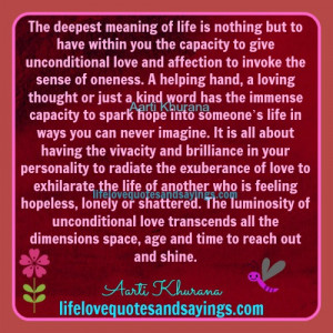 The Deepest Meaning Of Life..