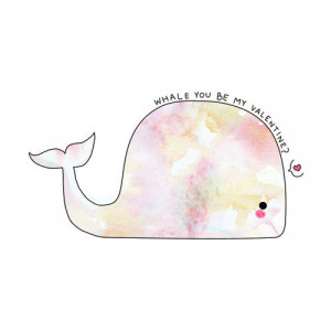 love drawing funny cute quote Cool heart whale Valentine