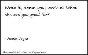 Writers on Writing #1