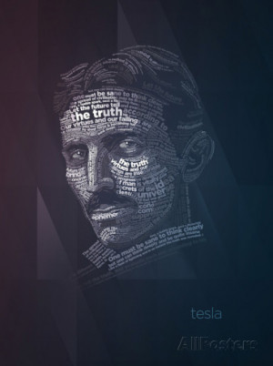 Nikola Tesla Typography Quotes Prints by Lynx Art Collection at ...