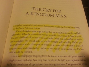 Quote from Kingdom Man by Tony Evans