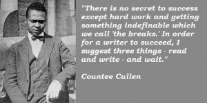 May 30, 1903, Countee Cullen, a leading poet of the Harlem Renaissance ...
