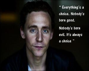 tom hiddleston quote | Tumblr